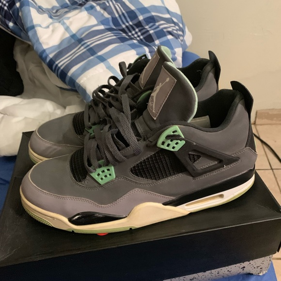 finest selection 87f39 a383d Green Glow 4s size 12